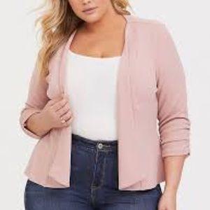TORRID Open Front Blazer Pink 1 X NEW